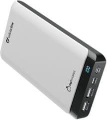 CellularLine Prémium PowerUp powerbank Usb-C - vel, 20000 mAh, fehér FREEP20000USBCW