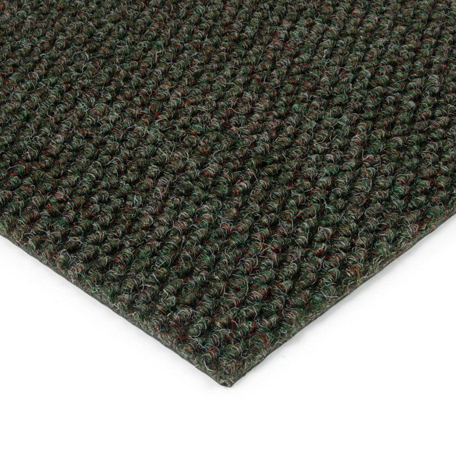 Zelená kobercová zátěžová vnitřní čistící zóna Fiona - 50 x 100 x 1,1 cm