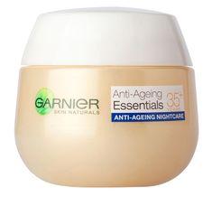 Garnier nočna krema Skin Naturals Essentials 35+, proti prvim gubam, 50 ml