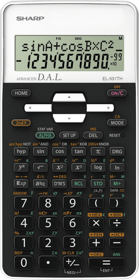 Sharp tehnični kalkulator EL531THBPK, črno-bel