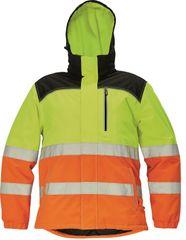 Cerva Pánská nepromokavá zimní reflexní bunda Knoxfield Hi-Vis žlutá/oranžová M