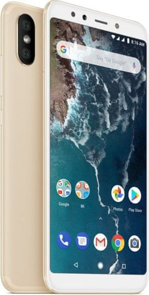 Xiaomi Mi A2 Gold, 6GB/128GB, CZ LTE, Global Version