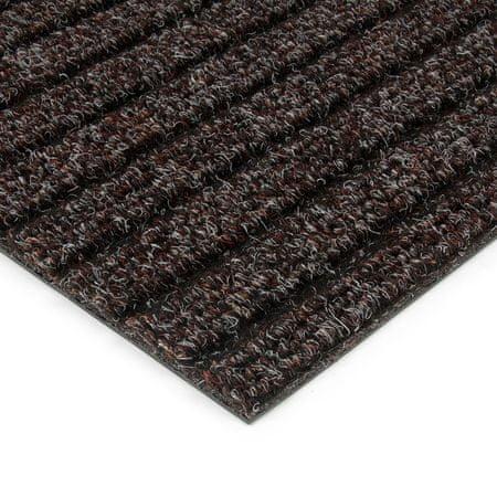FLOMAT Hnědá kobercová vnitřní čistící zóna Shakira - 200 x 100 x 1,6 cm