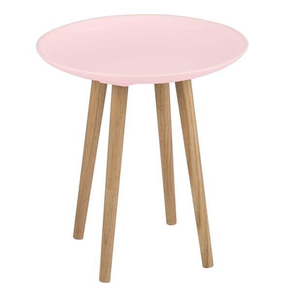 Design Scandinavia Konferenční / odkládací stolek Ema, růžová