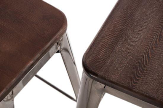 shumee Paris Arms Lesni stol, bel, razpokan bor
