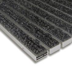 FLOMAT Textilní hliníková vnitřní vstupní rohož Alu Standard, FLOMAT - 1,7 cm