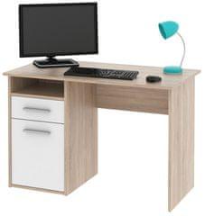 Kancelářský psací stůl MIIRO, dub sonoma/bílá