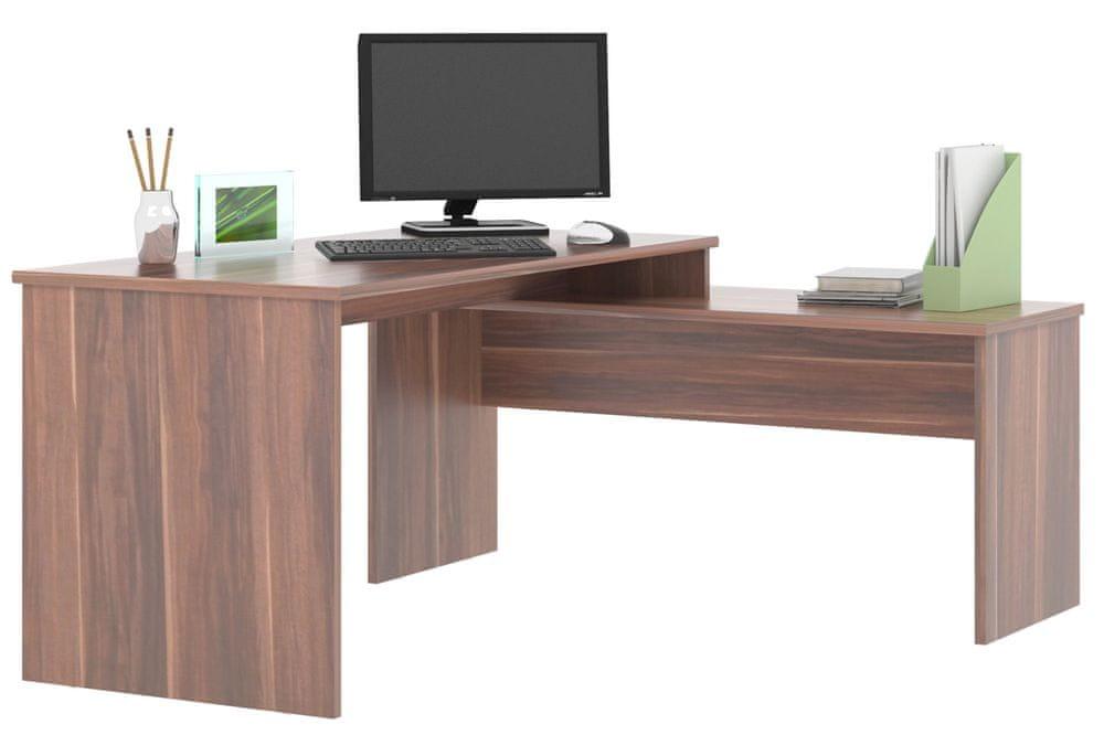 Rohový psací stůl GIANNI, švestka