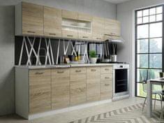 Kuchyně PERRLA, 200/260 cm, dub sonoma