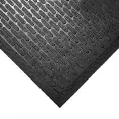 Černá gumová protiskluzová průmyslová rohož - 0,6 cm