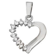Brilio Přívěsek srdce s krystaly 249 001 00351 07 - 1,35 g zlato bílé 585/1000