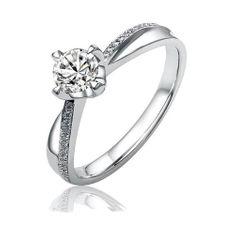 Silvego Stříbrný zásnubní prsten SHZR302 stříbro 925/1000