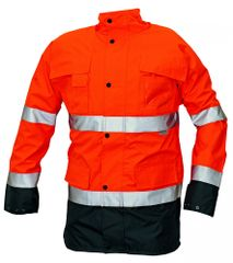 Cerva Zimná bunda Malabar 2v1 reflexná pánska oranžová L
