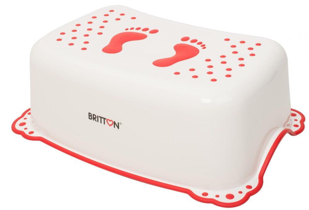 BRITTON stupátko k umyvadlu protiskluzové, bílá