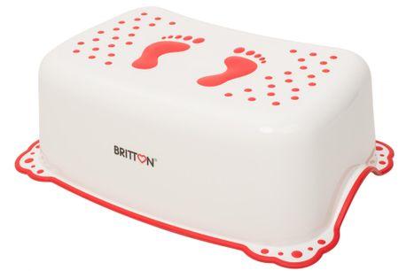 BRITTON stupátko k umyvadlu protiskluzové, biela