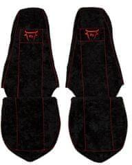 F-CORE Potahy na sedadla CS05 RD, černé