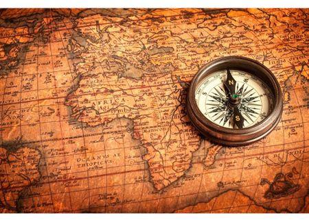 Dimex Nálepky na nábytok - Starožitný kompas, 85 x 125 cm