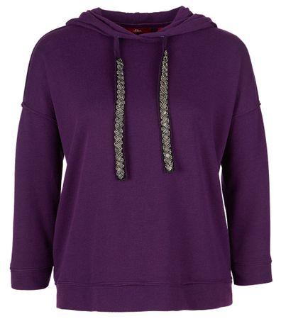 s.Oliver női pulóver 34 lila