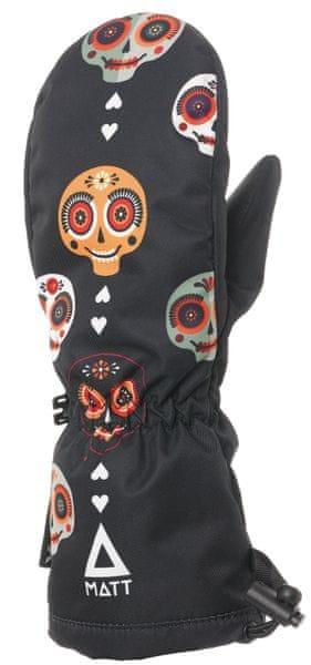 Matt dětské rukavice SKULL 110/116 černá
