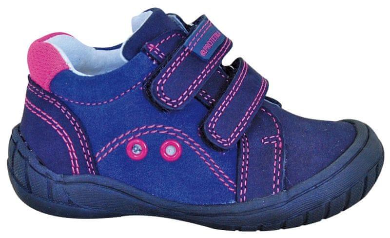 Protetika dívčí kotníkové boty IZA 22 fialová