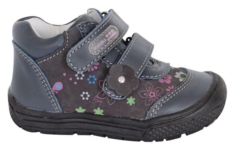 Protetika dívčí kotníkové boty PUPA 21 šedá