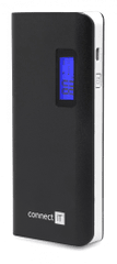 Connect IT FAST CHARGE power banka 10000 mAh, 2xUSB-A výstup 2.1/1A, čierna CI-669