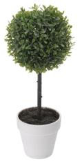 Marex Trade Buxus na kmínku v květináči, 40 cm, bílá