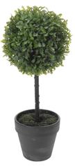Marex Trade Buxus na kmínku v květináči, 40 cm, šedá