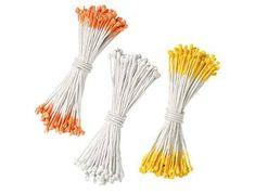 Wilton 180 barevných tyčinek pro květiny oranžové, bílé a žluté