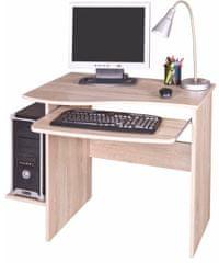 PC stůl s výsuvnou deskou MAKSIM, dub sonoma