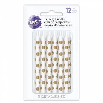 Wilton Narozeninové svíčky zlaté puntíky