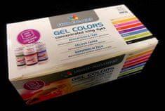 Food Colours Sada gelových barev (8 ks)