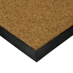 FLOMAT Textilní kokosová plastová zátěžová čistící venkovní vnitřní vstupní rohož Synthetic Coco - 1 cm
