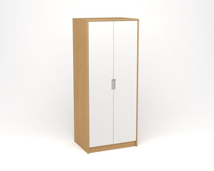 ANTERIA Šatní skříň - buk/bílá