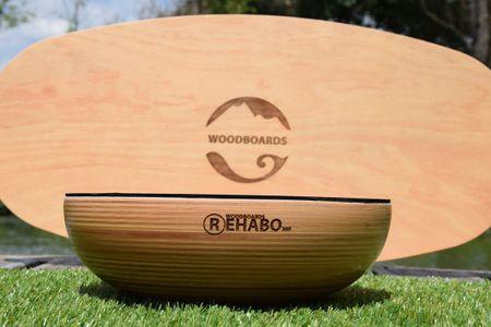 WOODBOARDS Balanční pomůcka Woodboards Rehabo 360 - komplet