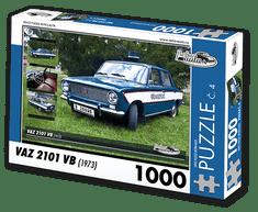 RETRO-AUTA© Puzzle č. 04 - VAZ 2101 VB (1973) 1000 dílků