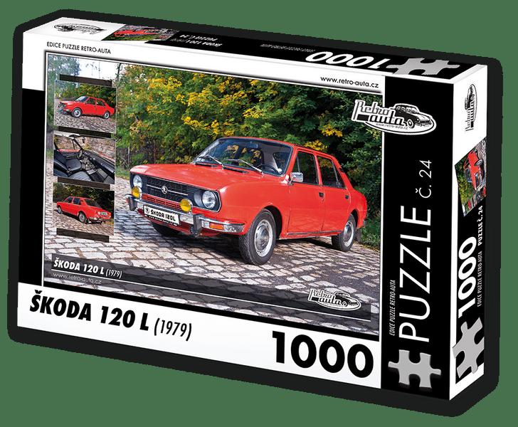 RETRO-AUTA© Puzzle č. 24 - ŠKODA 120 L (1979) 1000 dílků