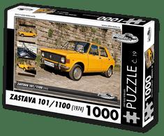 RETRO-AUTA© Puzzle č. 19 - ZASTAVA 101/1100 (1974) 1000 dílků