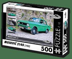 RETRO-AUTA© Puzzle č. 12 - MOSKVIČ 2140 (1980) 500 dílků