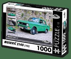 RETRO-AUTA© Puzzle č. 12 - MOSKVIČ 2140 (1980) 1000 dílků