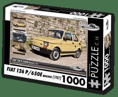 RETRO-AUTA© Puzzle č. 15 - FIAT 126 P/650E maluch (1987) 1000 dílků