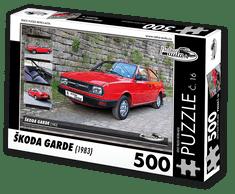 RETRO-AUTA© Puzzle č. 16 - ŠKODA GARDE (1983) 500 dílků