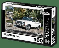 RETRO-AUTA© Puzzle č. 26 - VAZ 21061 (1986) 500 dílků