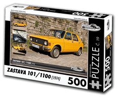 RETRO-AUTA© Puzzle č. 19 - ZASTAVA 101/1100 (1974) 500 dílků