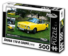 RETRO-AUTA© Puzzle č. 01 - ŠKODA 110R COUPE (1974) 500 dílků