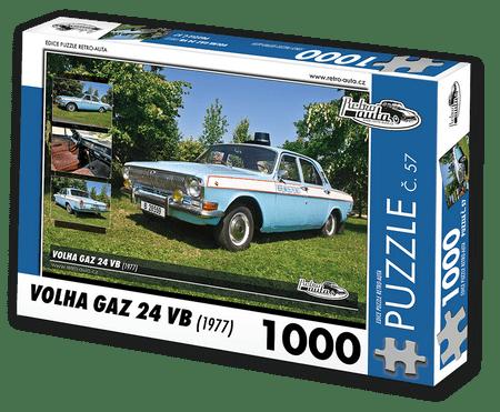 RETRO-AUTA© Puzzle č. 57 - VOLHA GAZ 24 VB (1977) 1000 dílků