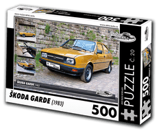 RETRO-AUTA© Puzzle č. 20 - ŠKODA GARDE (1983) 500 dílků