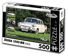 RETRO-AUTA© Puzzle č. 27 - ŠKODA 1000 MB (1965) 500 dílků