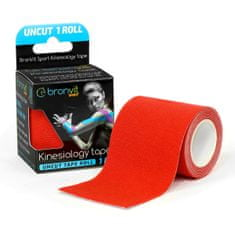 BronVit  Sport Kinesiology tape Uncut 1m x 5cm - červená