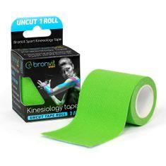 BronVit  Sport Kinesiology tape Uncut 1m x 5cm - zelená